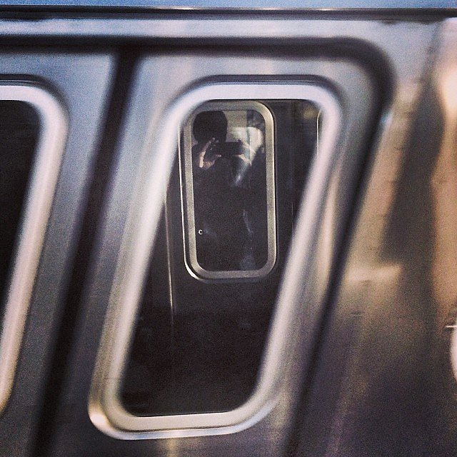#selfie #mta #subway #reflection #train #nyc