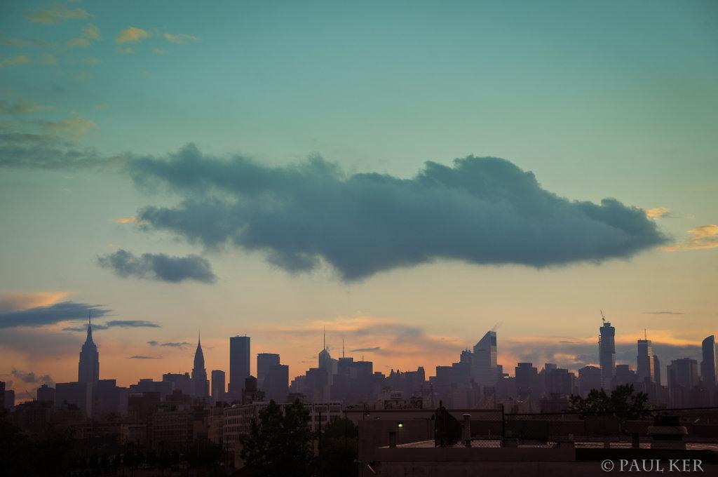 Cloudy over Manhattan