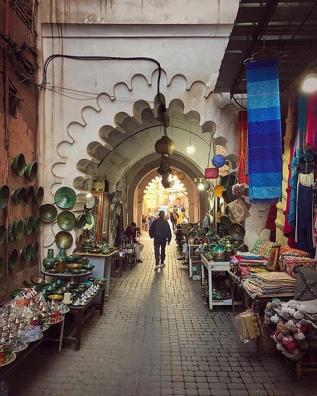Finished shopping in beautiful #Marrakesh